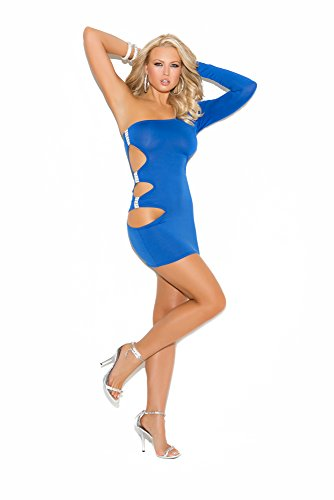 Elegant Moments Women's One Shoulder Mini Dress with Side Cutouts