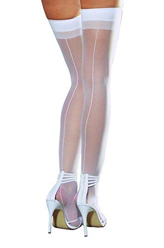 Dreamgirl Women's Sheer Thigh High with Backseam Socks