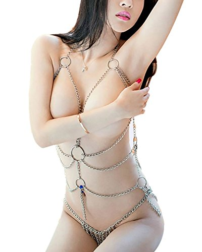 Enticing Women's Tassel Body Harness Chain Sexy Lingerie Chain Set