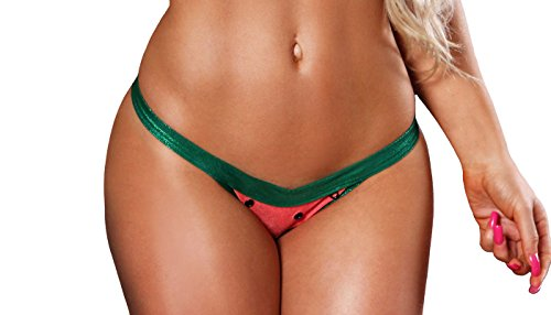 BodyZone Apparel Sexy Lolita Triangle Bottom. Coral/Green. One Size. Made in USA.
