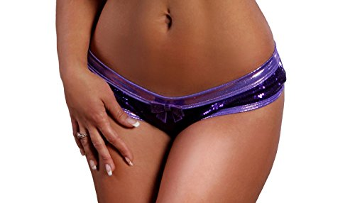 BodyZone Apparel Sexy Jewels Scrunch Back Short. Purple. One Size. Made in USA.