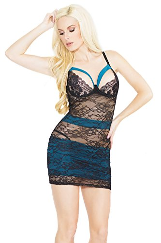 Coquette Women's All Over Stretch Lace Chemise