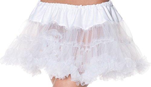 Underwraps Carnival Corp. – Petticoat Tutu Adult White – One Size