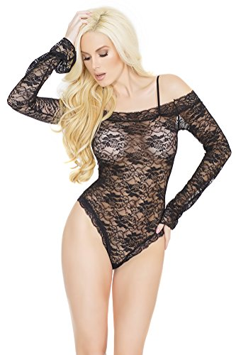 Coquette Women's All Over Stretch Lace Teddy