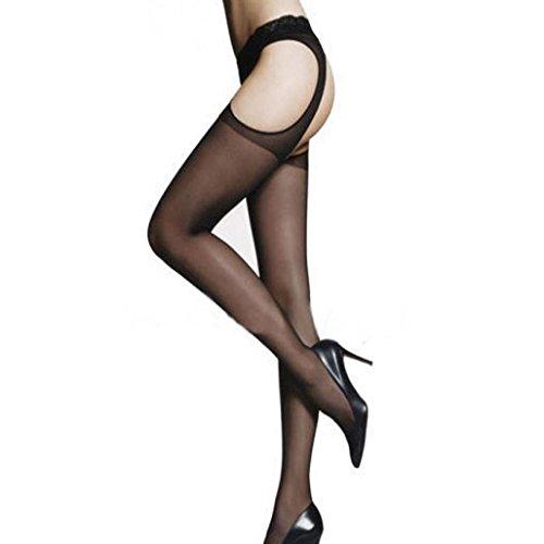 Tenworld Sexy Women Jacquard Pierced Nonslip Convenient Stockings Racy Pantyhose