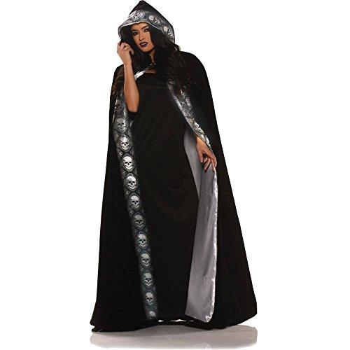 Adult Velvet Skull Cape Costume