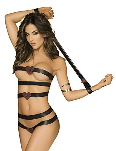 Mapalé by Espiral Women's Strappy Leatherette Teddy
