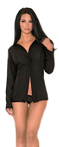 Escante Women's Favorite Boyfriend Nightshirt with 2 Button Front