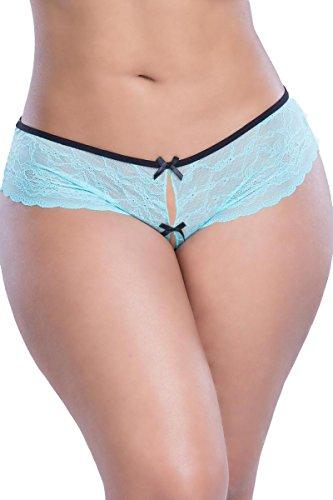 Lacey Racey Crotchless Bikini Plus Size