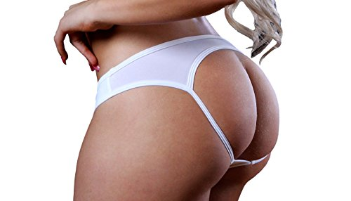 BodyZone Apparel Sexy Tricot Jockey Open Back Panty. Golden Yellow. One Size. Made in USA.