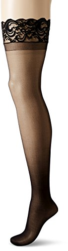 Dreamgirl Women's Plus-Size Silicone Lace Top Thigh-High