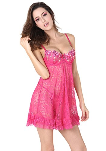 Josi Minea Women's Beautiful Sexy Lingerie Set – One Size Fits All (fits S/M/L Sizes)
