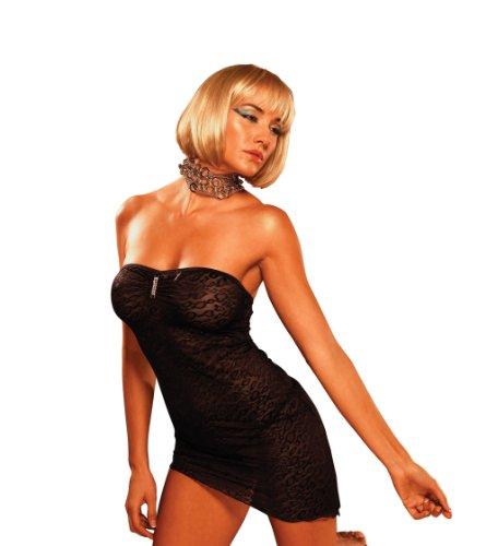 BodyZone Apparel Cheetah Print Tube Dress Black One Size Fits Most