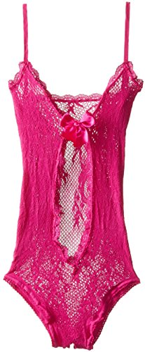 Leg Avenue Women's Stretch Lace Teddy