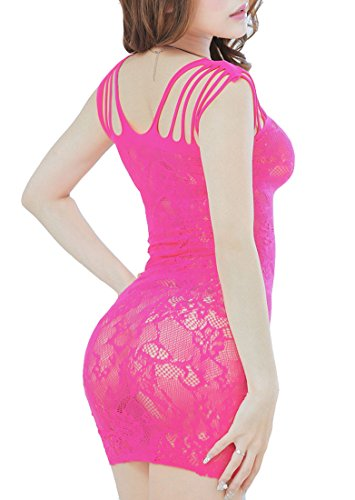 Sexy Lingerie Women Intimate Fishnet Bodystocking Dress Erotic Stripper Sleep Dress