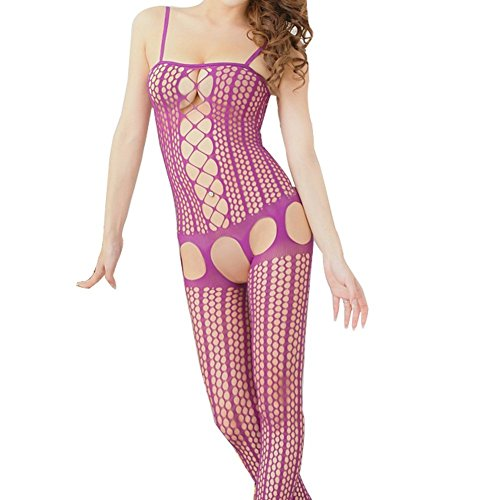Fashion Sexy Open Crotch Fishnet Body Stocking Bodysuit Lingerie Nightwear