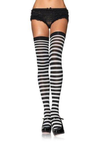 Leg Avenue Women's Plus-Size Plus Nylon Striped Stockings