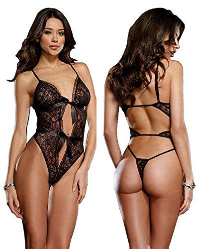 Sexinn Lace Lingerie Bodysuit (Black butterfly)