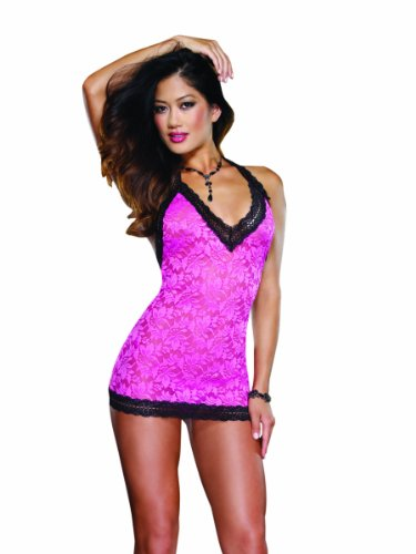 Dreamgirl Women's Delicious Delight T-Back Chemise And Thong