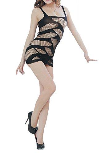 Amoretu Womens Fishnet Chemise Lingerie Dress