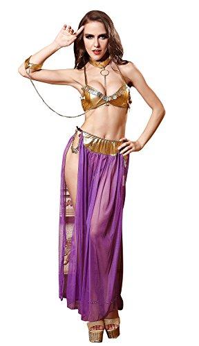 LifeVV Women's Sexy Party Cosplay Erotic Lingerie Harem Slave Set Dancer Costume