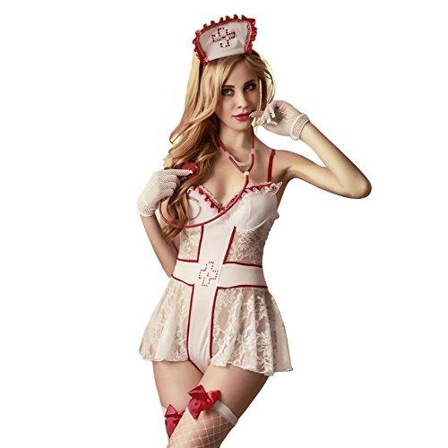 Amour Eden ® Women's Sexy Lingerie Nurse Uniforme Cosplay Costume Set