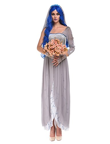 Ninimour- Women's Dead Bride Ghostly Halloween Costumes