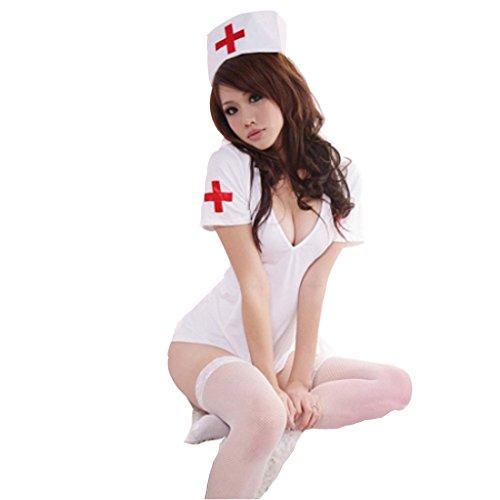 OLUOLIN Women Uniform Sexy Lingerie with Cap-nurse