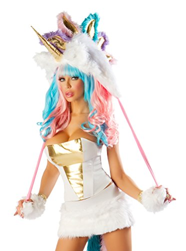 J. Valentine Women's Unicorn Costume Skirt and Corset