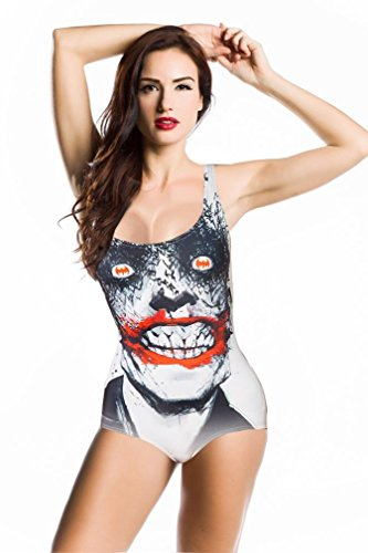 Amour- Quality Digital Print Punk Romper Teddy Monokini Swimsuit (BMY102)
