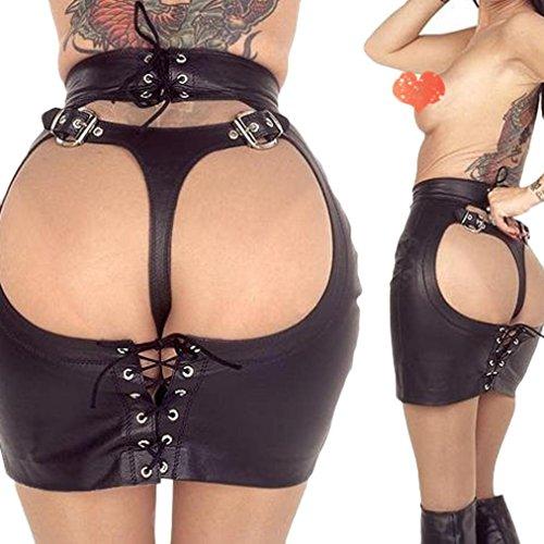 Women lingerie, Franterd Bag Hip Skirt Jumpsuits Clubwear Mooning Patent Dress