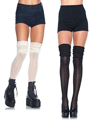 Leg Avenue Women's Pointelle Over The Knee Scrunch Socks