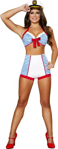 Roma Costume Women's Ahoy Playful Pinup Sea Captain Sailor Costume