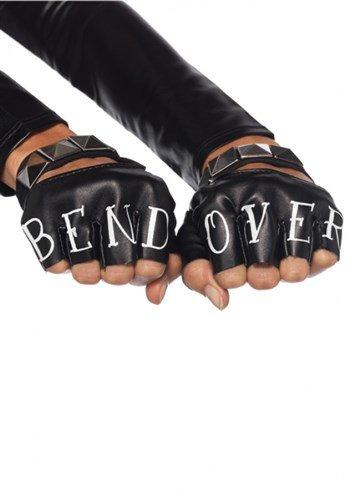 Leg Avenue Women's Faux Leather Bend Over Gloves