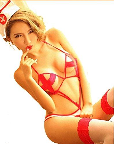 DGAGA Sexy Nurse Lingerie Outfit Uniform for Women for Sex Christmas Gift