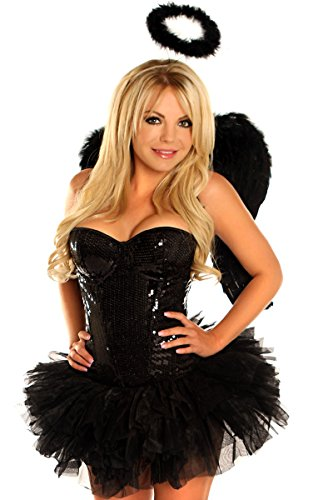 Daisy Corsets Women's 4 Piece Sequin Angel Costume