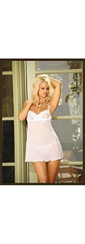 Mesh Babydoll With G-String