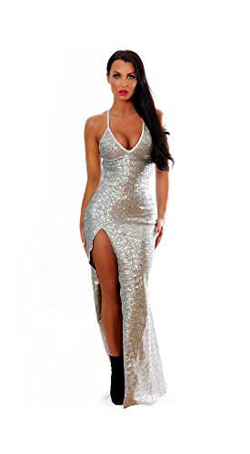 BodyZone Apparel Holiday Sequin New Years Evening Gown.