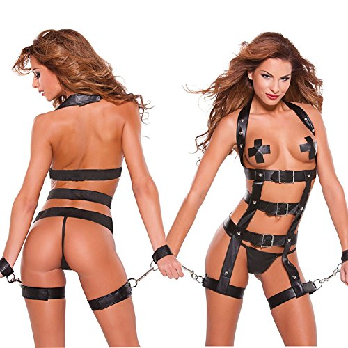 Nikki's Dressing Room® Role Play Women Prisoner Faux Leather and Chain Restraint Set
