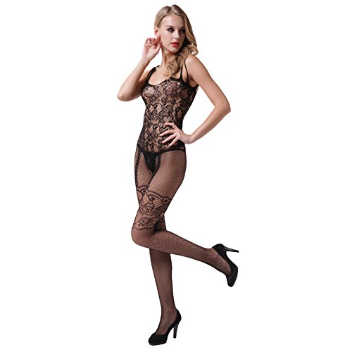 Amour Eden Sexy and Comfortable Lingerie Fishnet Body Stocking with Open Crotch