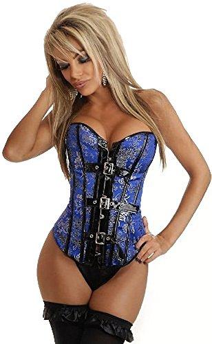Daisy Corsets Brocade Buckle Burlesque Corset Medium Blue
