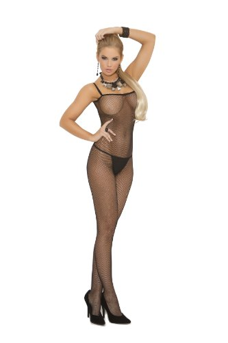 Elegant Moments EM-1611, Fishnet Bodystocking. Also in plus size. O/S Black