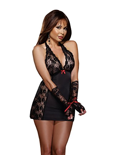 Dreamgirl Women's Plus-Size Restrained Passion Chemise