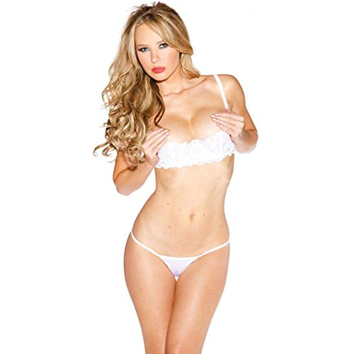 Shirley of Hollywood SOH-324, Chopper Bar Shelf Bra. 36 White