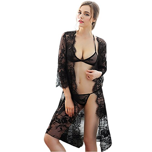 Unilove Sexy Lace Lingerie Nightgown Chemise Babydoll Lingerie Robe for Women