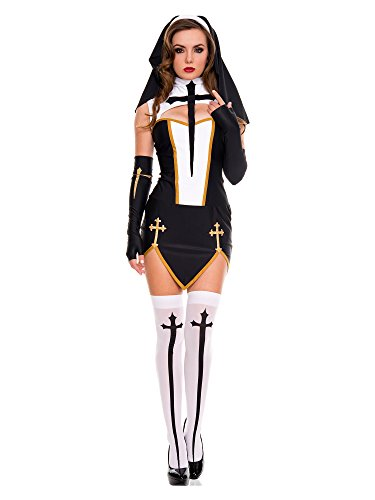 Music Legs Bad Habit Nun Costume