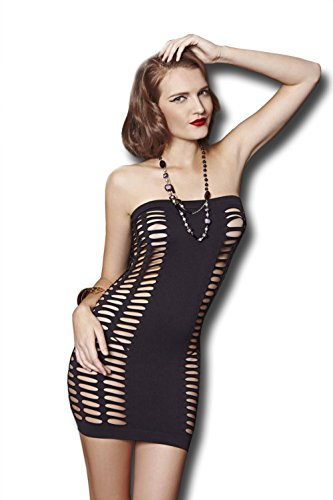 Moonight Women Sexy Cocktail Hollow out Skirt Clubwear Mini Badydoll Dress