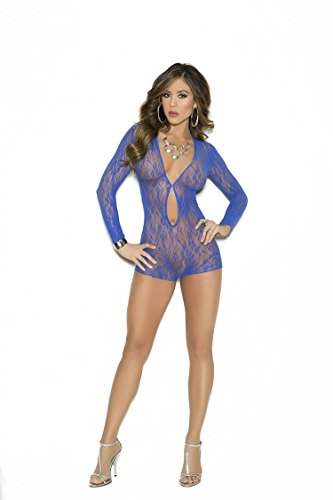 Keyhole Lace Romper – Royal blue – One Size