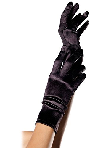 Leg Avenue Women's Wrist Length Satin Gloves