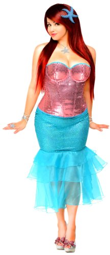Daisy Corsets Women's 2 Piece Sexy Siren Costume
